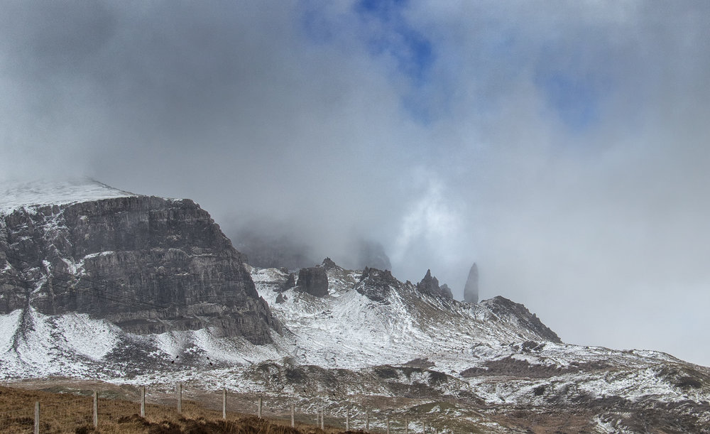 Low cloud at Old Man of Storr