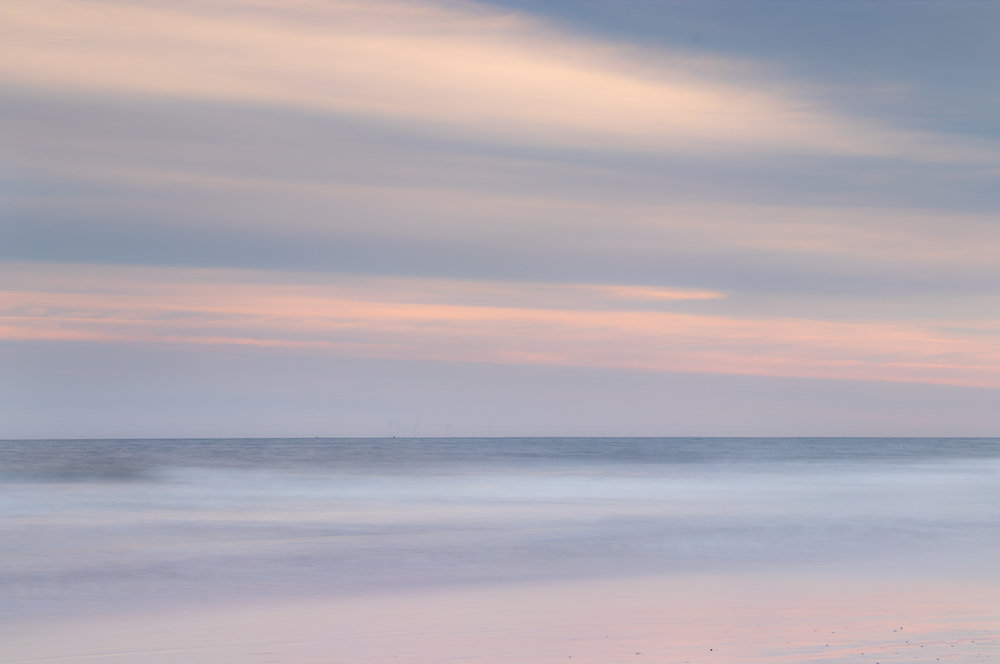 Pastel sunset at Druridge Bay