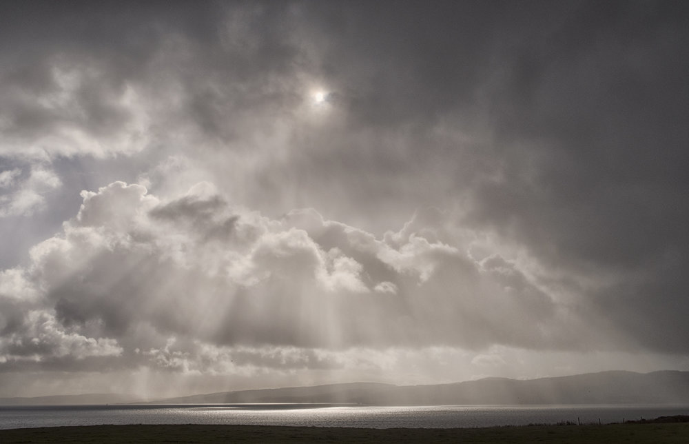 sunbeams over Kintyre