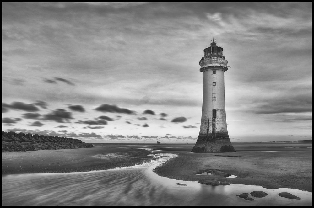 Incoming tide Perch Rock Lighthouse