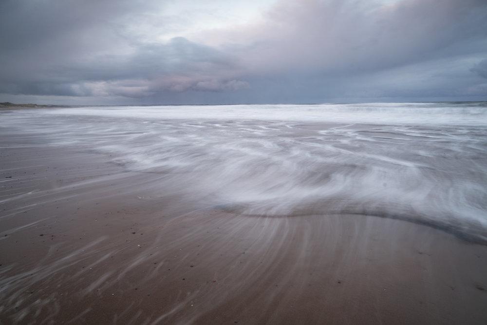 Cresswell beach tide
