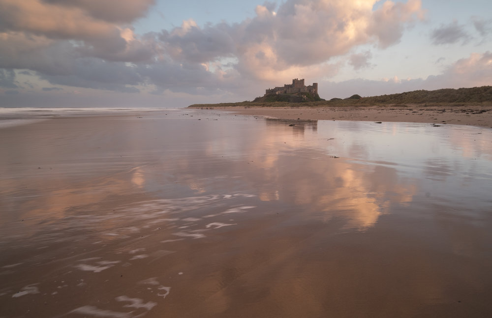 Bamburgh Castle reflections