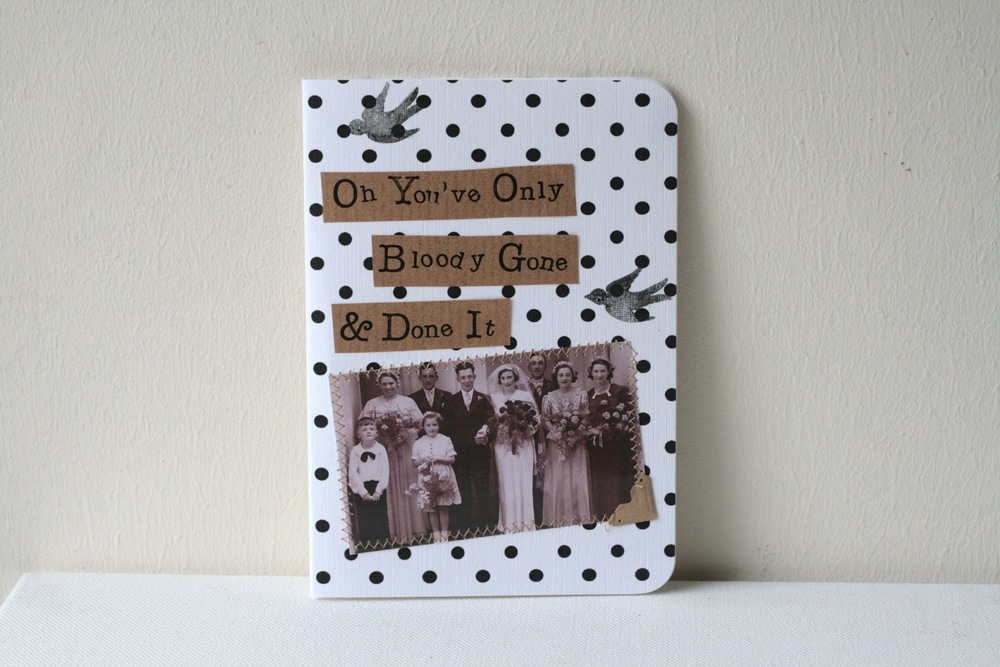 The best-selling wedding card! Everyone loves a bit of cheekiness!