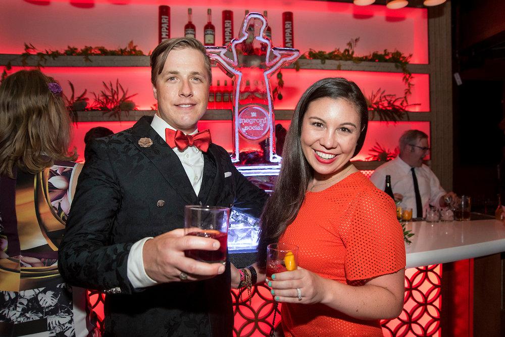 Douglas Derrick and Caitlin Crisan of Campari America