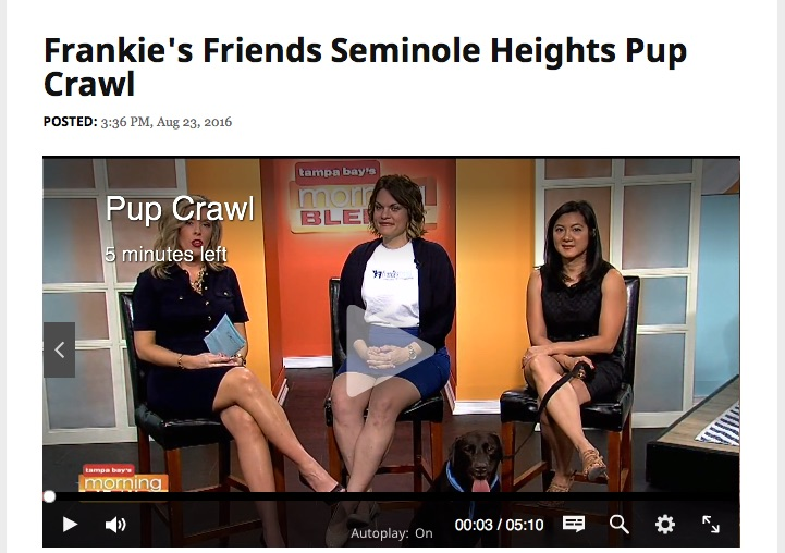Frankie's Friends Executive Director Danielle Martin talks about upcoming Pup Crawl on Tampa's Morning Blend