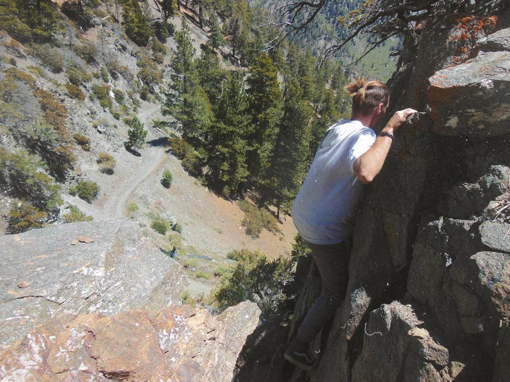 Jake Bouldering Like a Madman