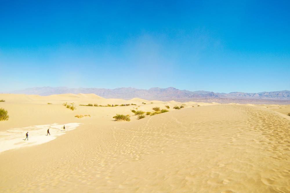 Crossing salt flats en route to the Dunes