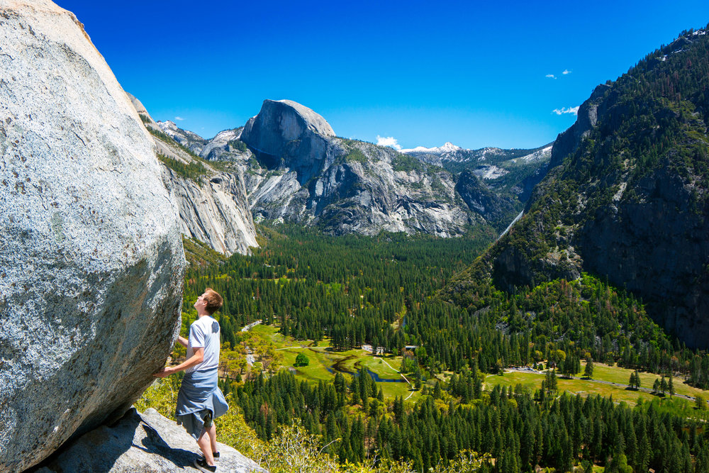 The pricless moment when someone sees Yosemite Valley for the first time