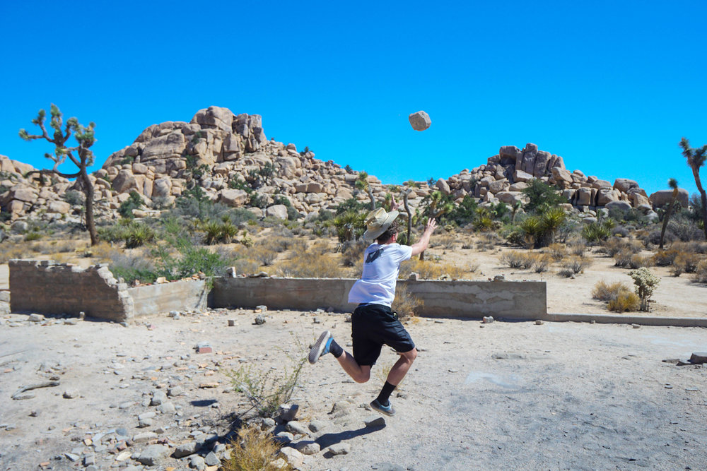Ah, the age old game of 'Rock Toss'; the national sport of the Mojave Desert