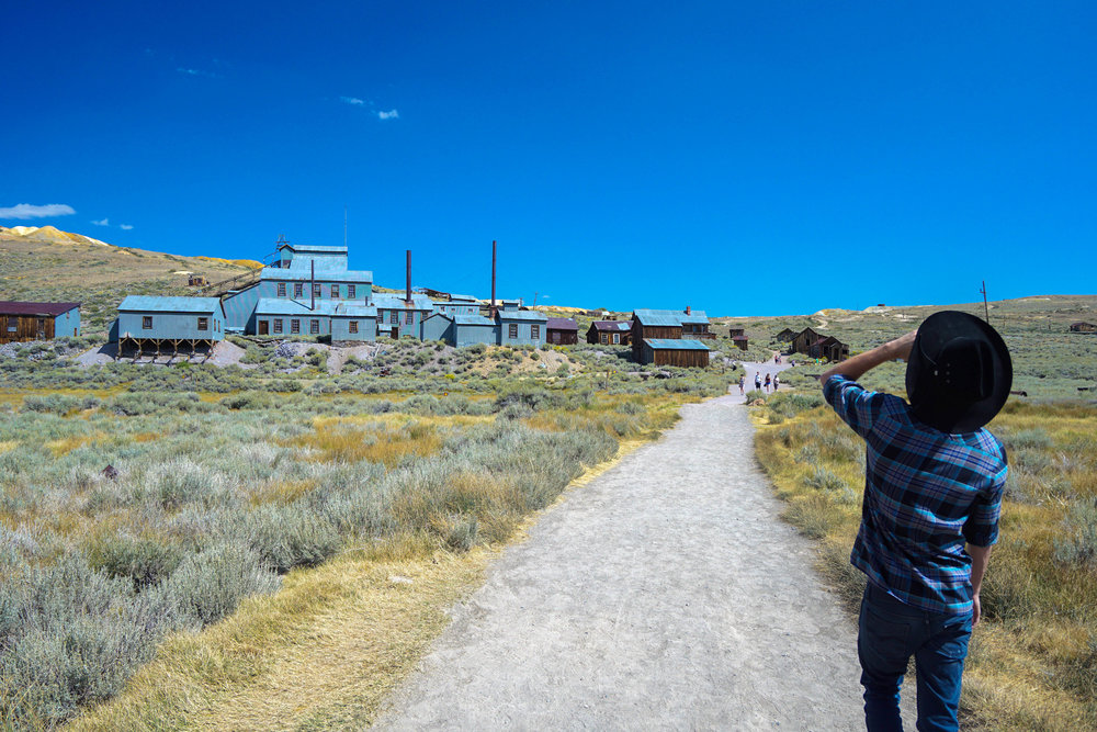 100 miles north we land in the notorious Ghost Town of Bodie. Bottoms up!