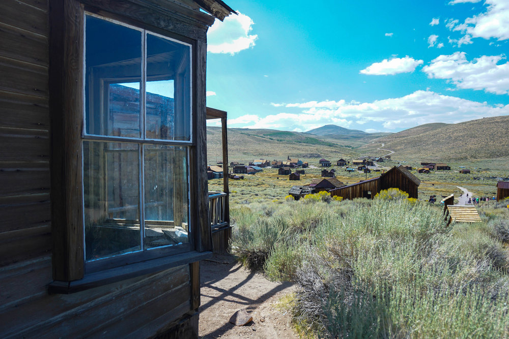Littered with buildings of the old mining boomtown, Bodie serves as the most well-preserved gold rush town.