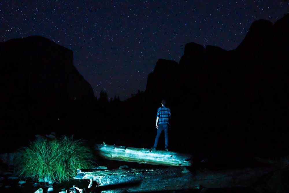 A night hike through the valley offers some of the most spectacular scenery on the planet.