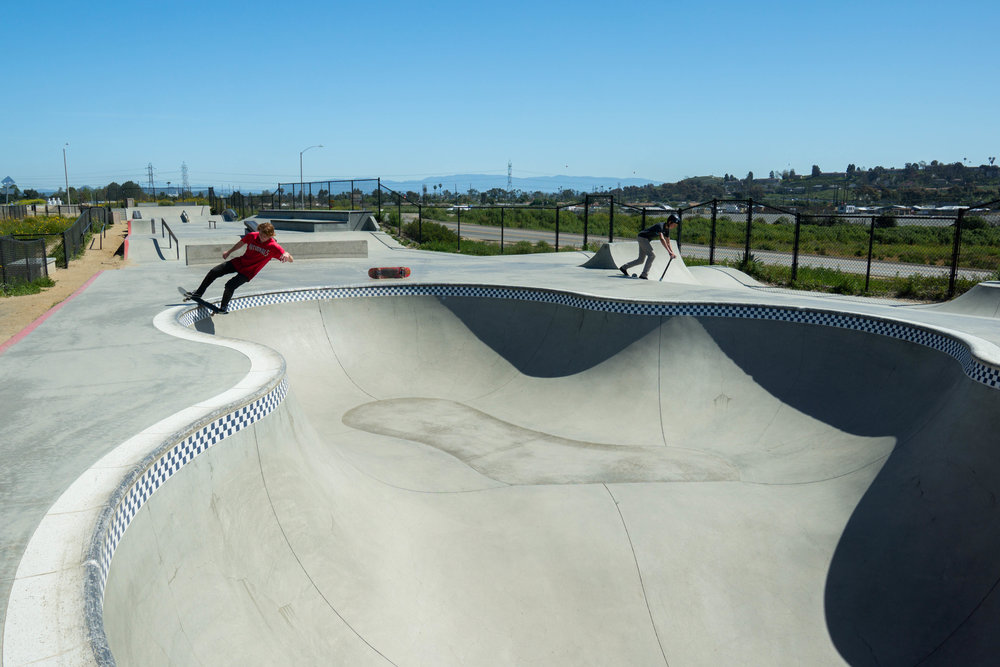 With the day still young, we arrive at Prince Park in Oceanside for quick skate
