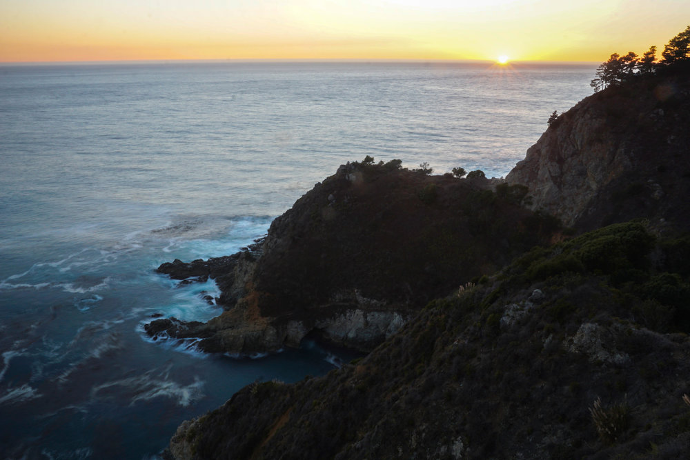 A look down shows the dramatic coastline we had just journeyed down, up & across.