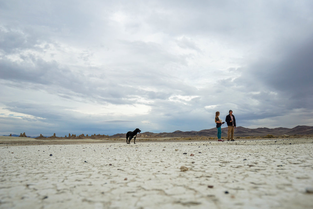 After some morning yoga & a quick breakfast we head to an expansive dry lake bed we spotted in the distance.