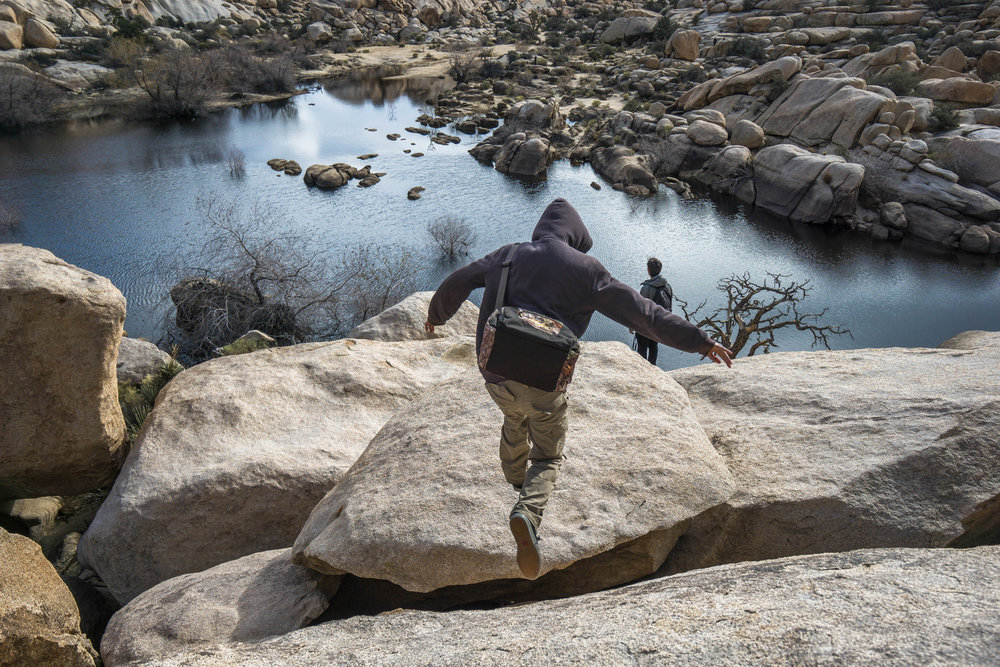 One of the best aspects of Joshua Tree is the huge amount of non-technical climbing routes. There's a variance of climbing for every skill level.