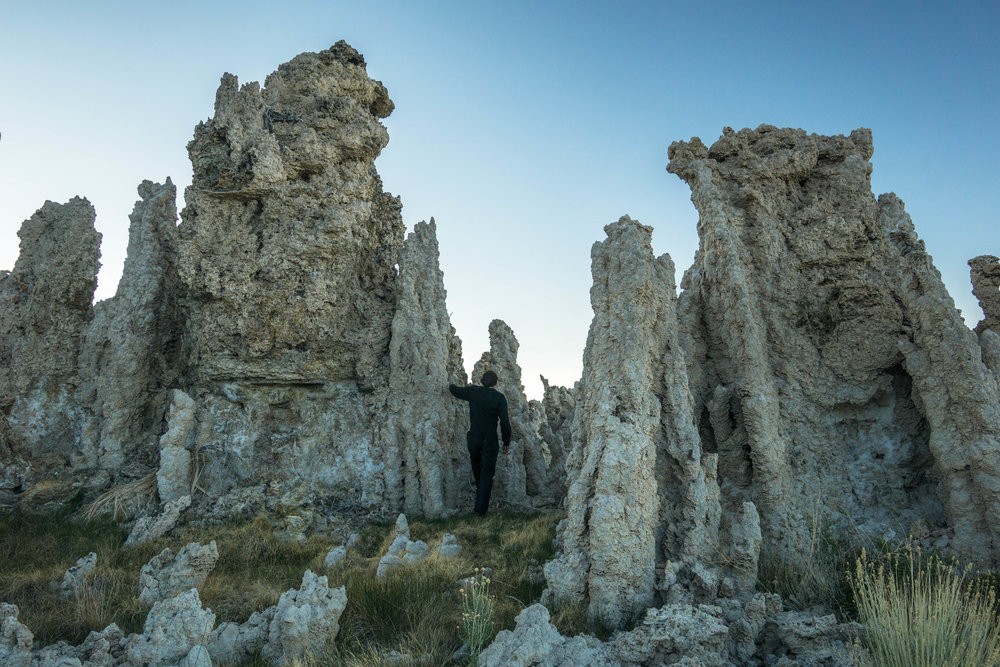 This alien landscape is dotted with tufa towers, formed under water when the lake level was higher.