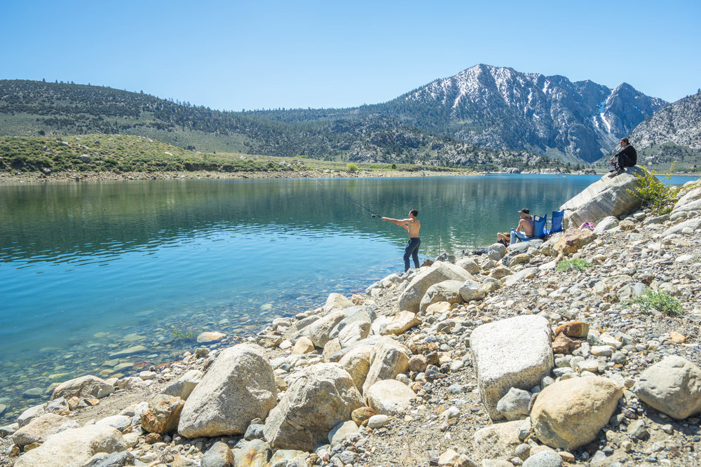 Deciding to test our luck, we head down to the lake & cast out a line in the hope of snagging some trout.