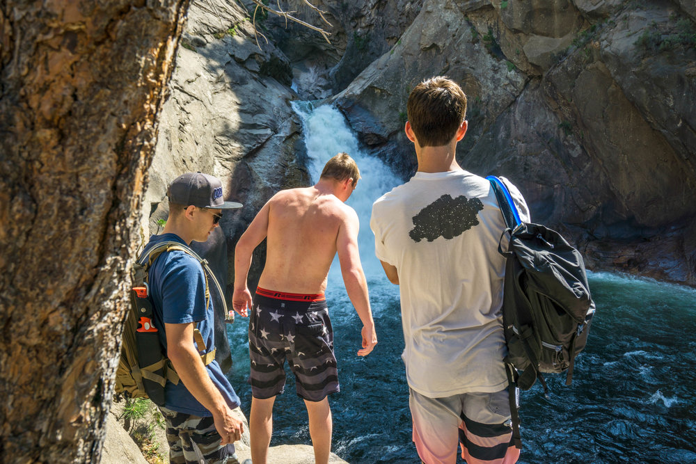 Looking to reignite some stoke, we drive deep into Kings Canyon to a raging waterfall.