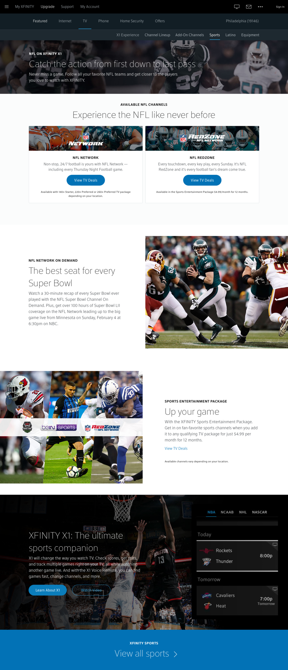 Final Design - NFL Page