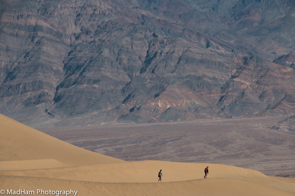 Hiking Death Valley Dunes