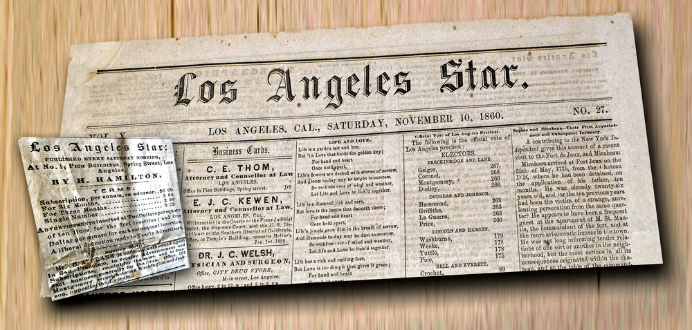 The spirit of disunion grew worse in Southern California, kept active by the editor of the Los Angeles Star.