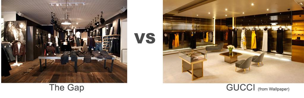 The Gap vs Gucci