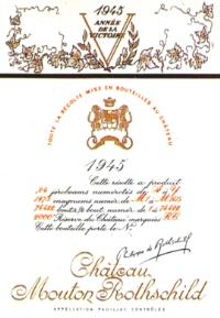 Château Mouton-Rothschild 1945 label