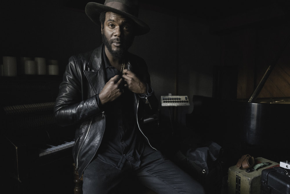 Gary Clark Jr in studio