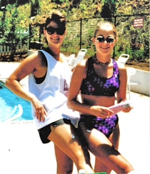 Summer fun with Lyn and Amy. Duluth, GA, 1997