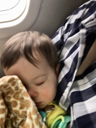 Snoozing at 35,000'.