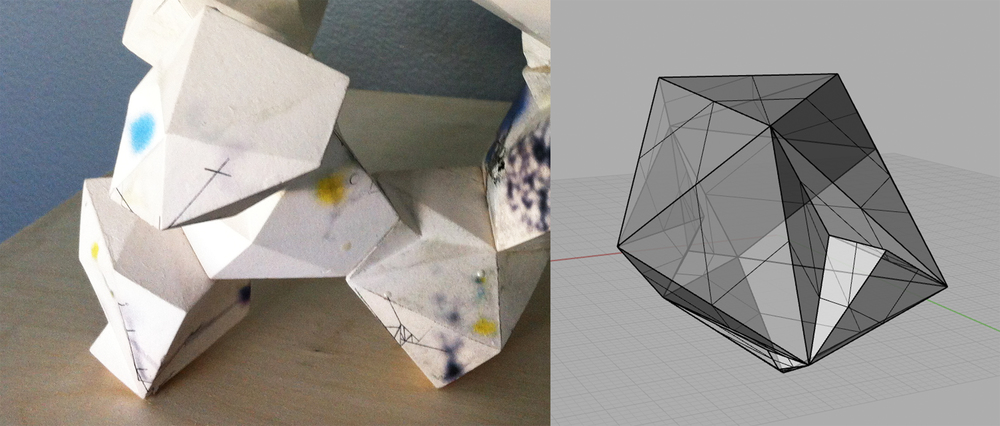 cast porcelain, ceramics decals, graphite / Digital Model