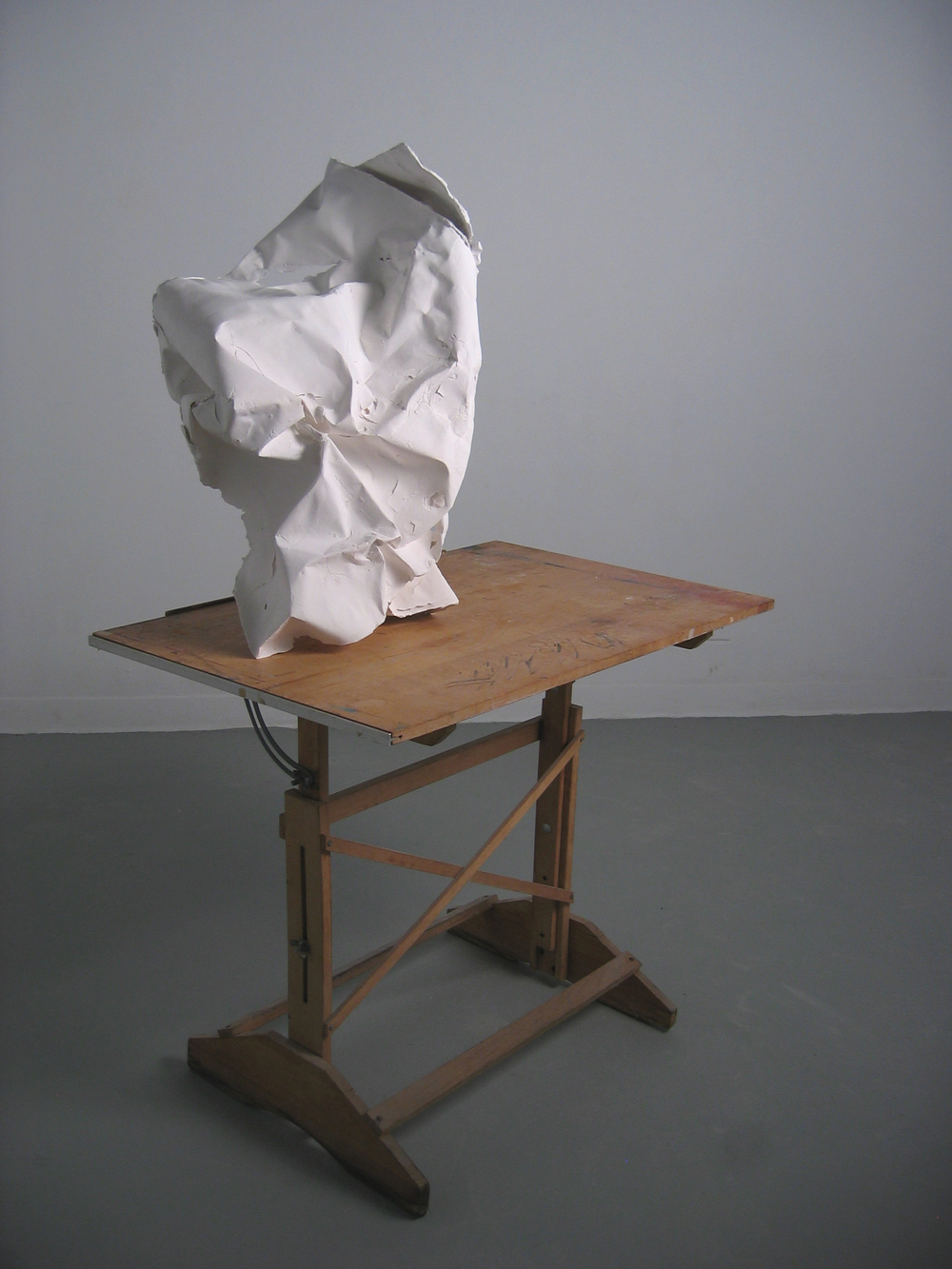 Cast porcelain, drafting table.