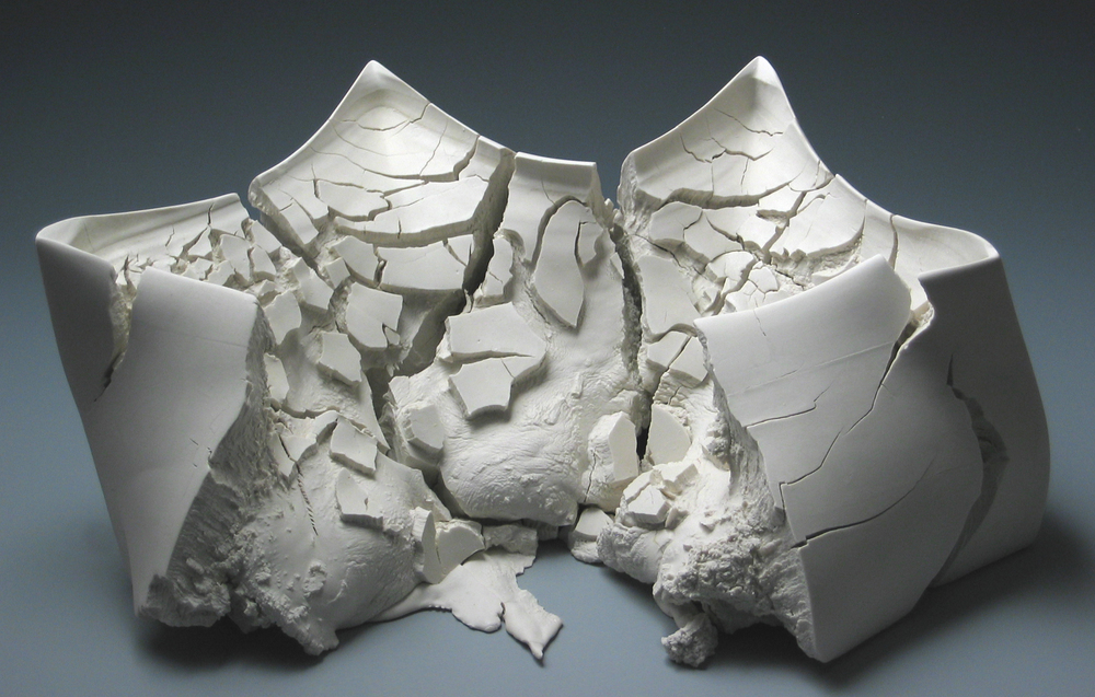 Solid-cast porcelain     Collection of  Daum Museum of Art