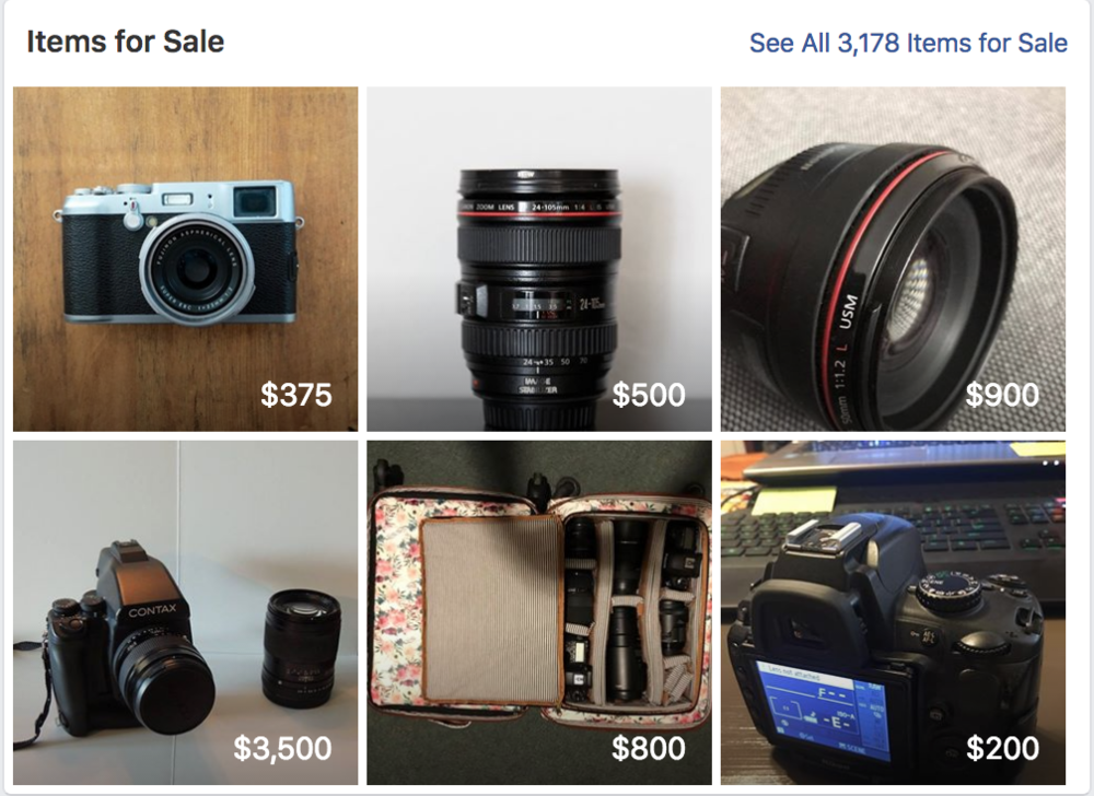 Selling Used Cameras and Lenses Online | Facebook Groups