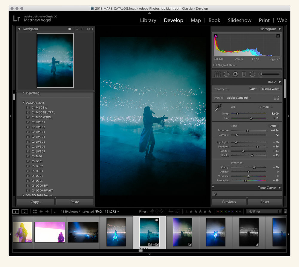 Lightroom — editing, culling and rating