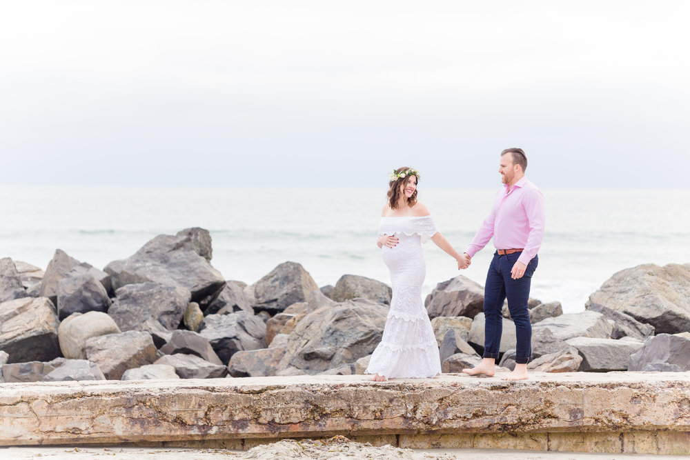 Brett & Deanna | Coronado Maternity Photos