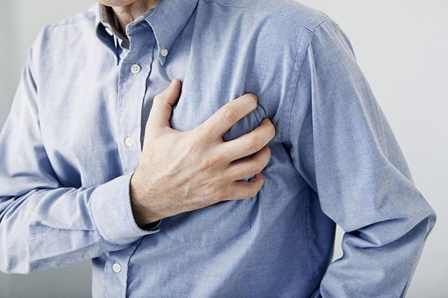 "Don't ignore chest pain!  The sensation of squeezing, crushing or pressure on the chest could indicate many things – from ""harmless"" stress and indigestion to something as serious as an impending heart attack or angina. Angina is recurring chest pain that usually signals coronary artery disease (or blockages in the heart arteries). #jamesrivercardiology"