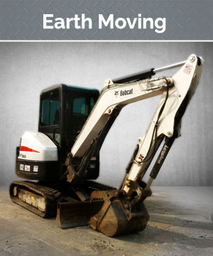 Backhoes and loaders, mini excavators, and skid steers are available. We have a wide assortment of attachments including buckets, shovels, and drills.