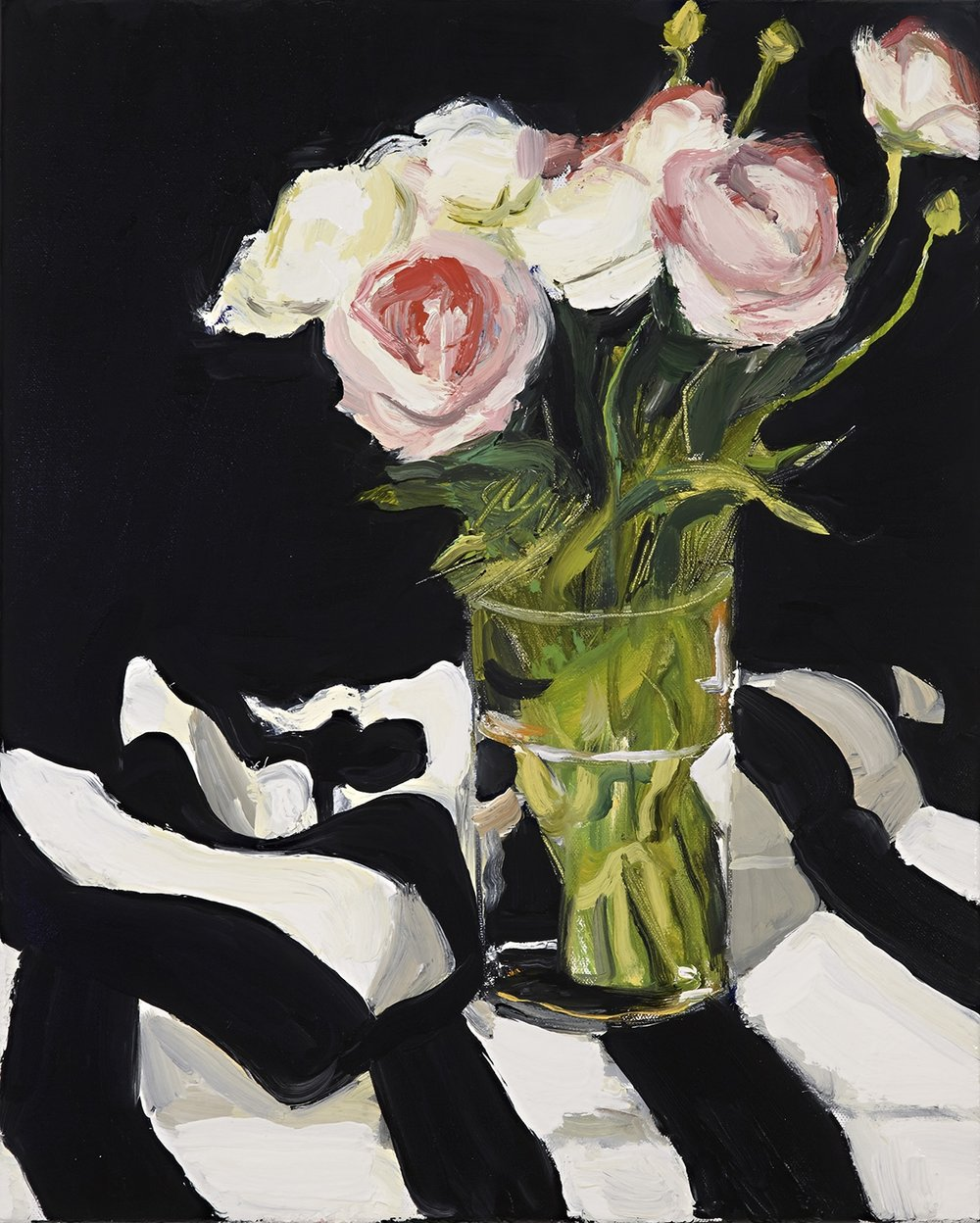 STILL LIFE WITH RANUNCULUS 1 2014, oil on linen, 50x40cm