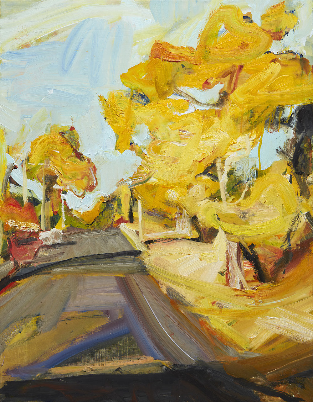 BLACKHEATH STREET LANDSCAPE 2014 oil on linen 91x71cm