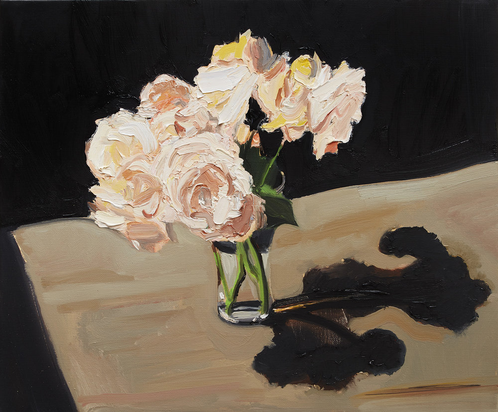 FLOWERS IN THE AFTERNOON LIGHT 2015 oil on linen 40x50cm