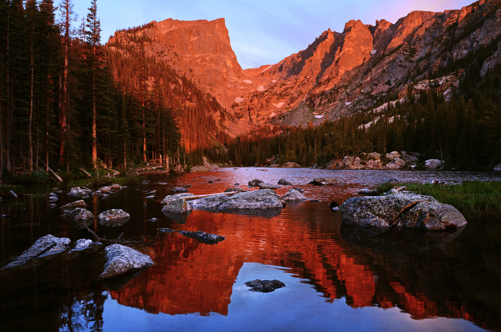 Dreaming Mirror - Dream Lake, Rocky Mountain National Park, Colorado