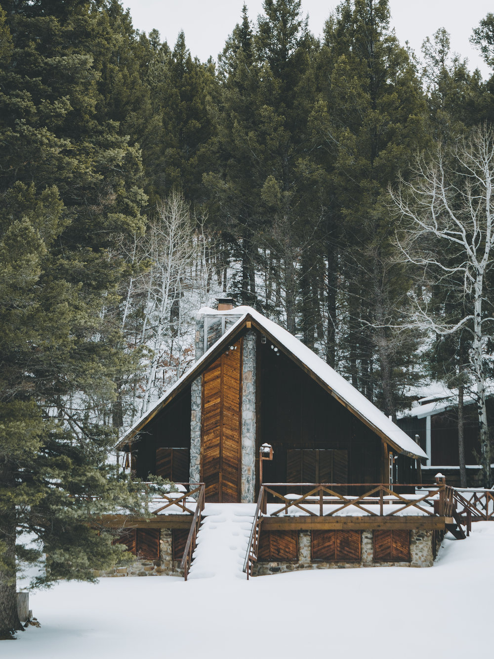 Snowy Cabin, Carson National Forest, New Mexico