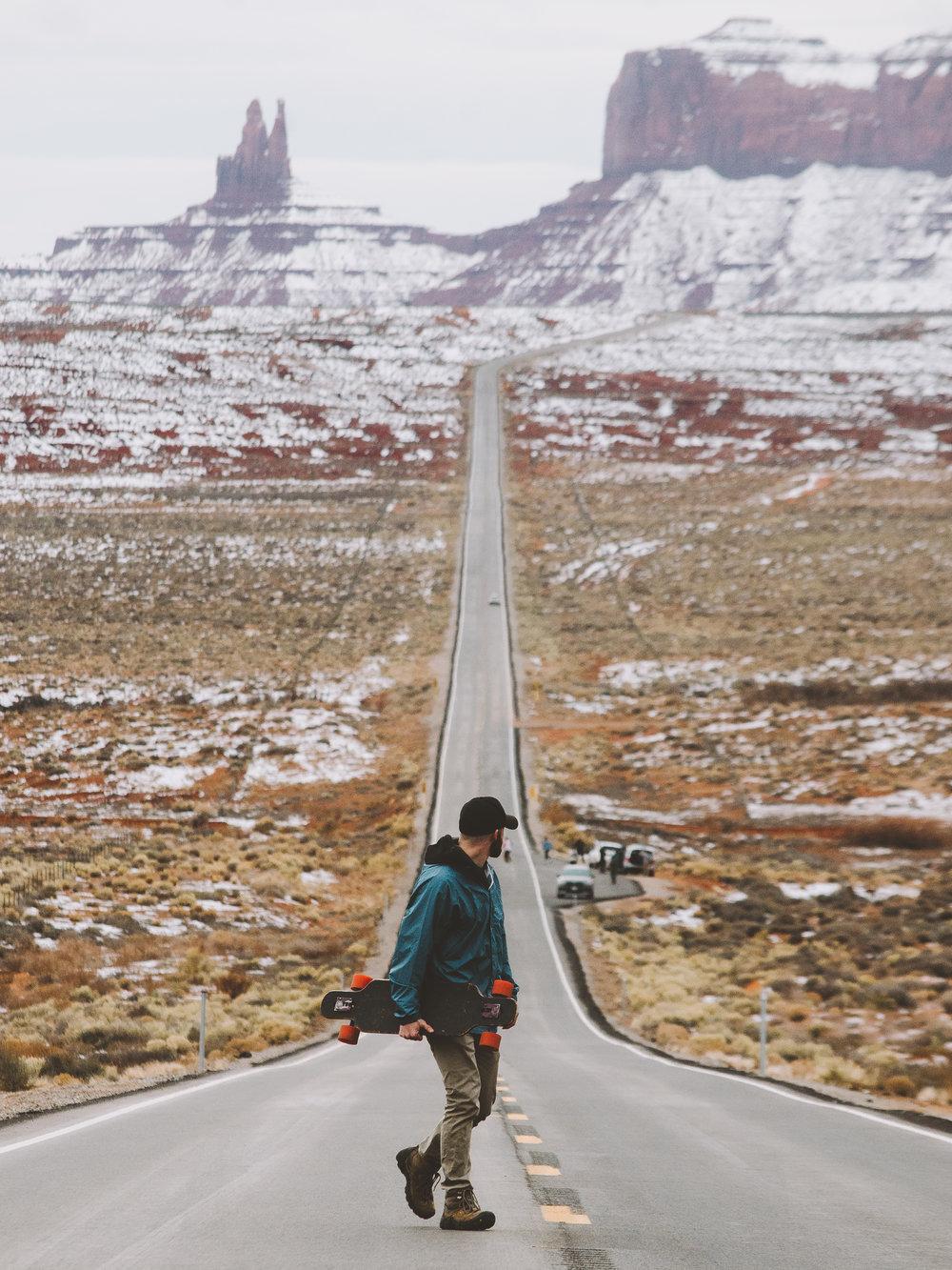 Long Boarder, Forrest Gump Point, Utah
