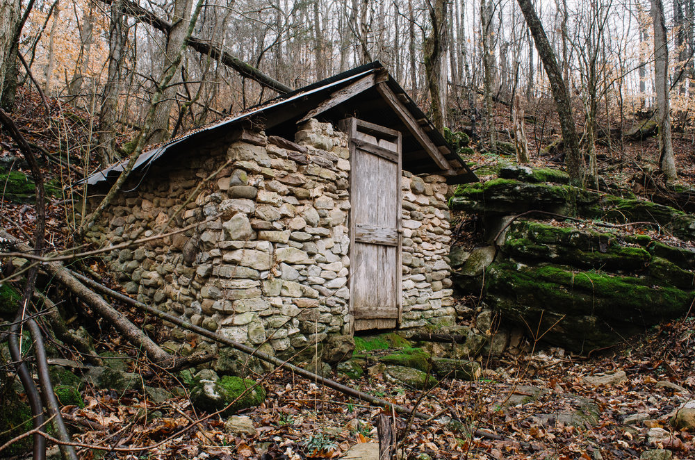 The old Springhouse in Boxley Valley (Across from the Mill Pond).