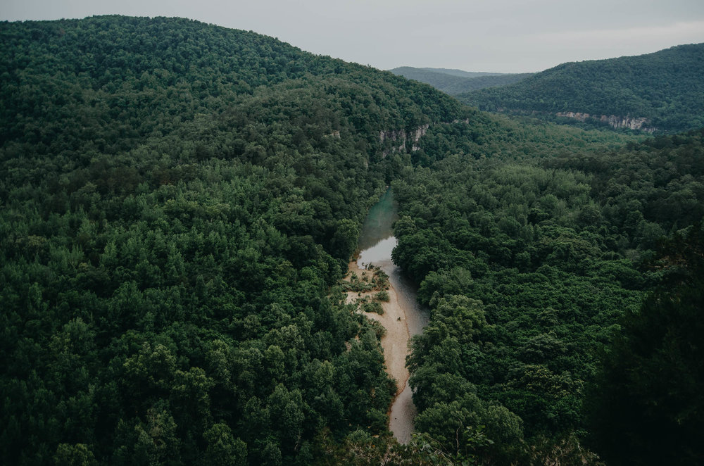 View of the Buffalo River from Big Bluff
