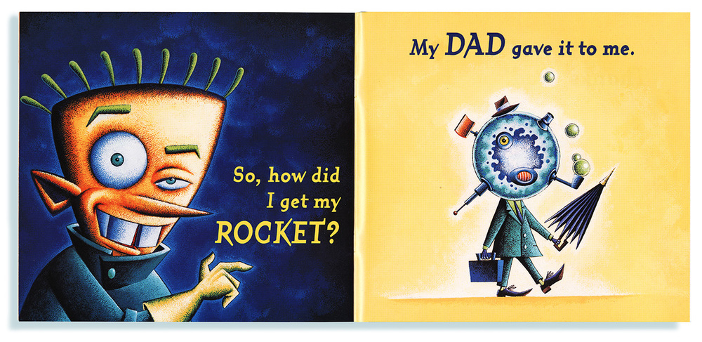 Dean Gorissen Illustration-I  got a Rocket! My Dad
