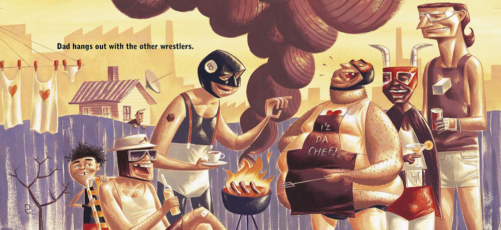 'My Dad's a Wrestler! Written by Matt Zurbo, Illustrated by Dean Gorissen. Hachette.
