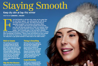 (201) Health & Beauty Staying Smooth - Keep dry skin at bay this winter     February 2016